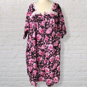 Only Necessities  Muumuu Dress Pink Floral 2PC 5X